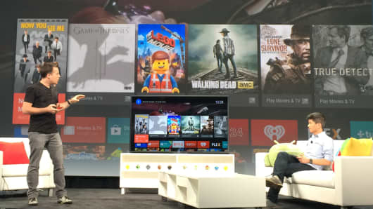 Android TV demo at Google I/O.